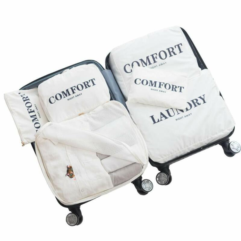 Jiklx 6 Set Packing Cubes For Carry On,Suitcase Travel Lugga
