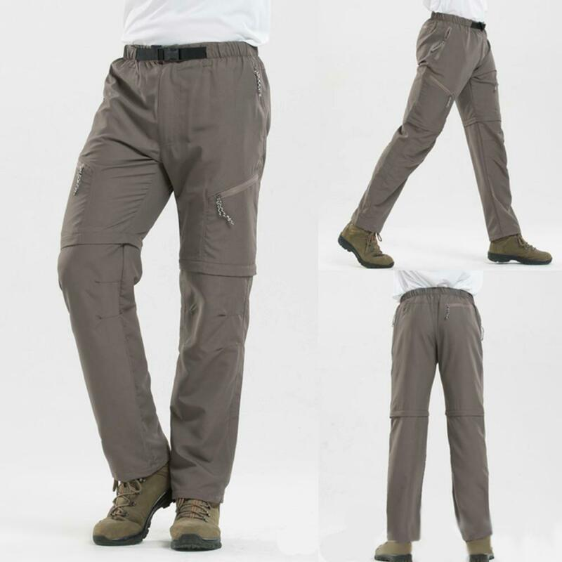 bea4234fd4 Details about Men Quick Dry Outdoor Hiking Pants Waterproof Trousers Shorts  Pants Convertible