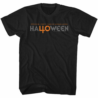 Halloween Movie 40th Anniversary 40 Years Logo Officially Licensed Adult T-Shirt](Halloween Movie Logo)