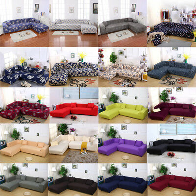 - New Sofa Slipcover for Sectional L Shape Stretch Elastic Fabric Sofa Couch Cover