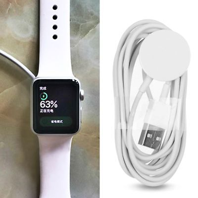 White Magnetic Charging Cable Wireless Charger Dock For Apple Watch iWatch 1 2 3