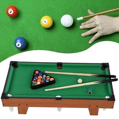 Wooden Mini Pool Table Children Kids Snooker Billiards Game Set Cube Balls Sport