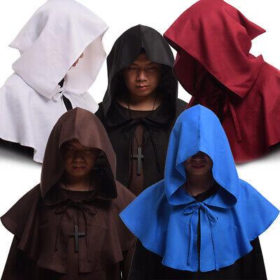 Halloween Costume Priest (Medieval Friar Cowl Hat Monk Priest Pagan Halloween Costume Cosplay Hat)
