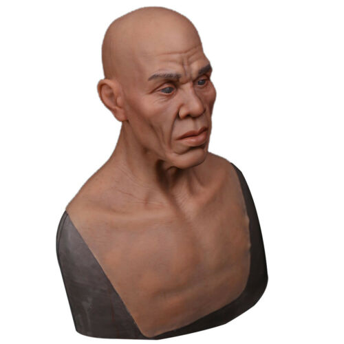 IMI Amazing Silicone Old Man Face Movie Props Crossdresser Halloween Headgear
