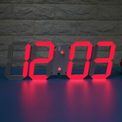 Large LED Digital Wall Clock Remote Alarm Watch Timer Countdown Thermometer New