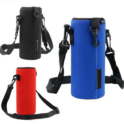 - Water Bottle Insulated Cover Holder Carrier Bag Shoulder Strap Case Multicolor