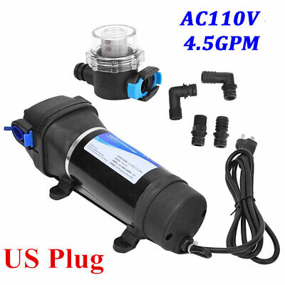 Ac 110v 4.5gpm Self-priming Diaphragm Water Pressure Pump For Caravanboatrv