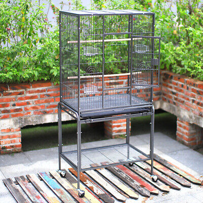 135cm Large Metal Birds Parrot Cage Play Stand Budgie Canary Cockatiels Aviary
