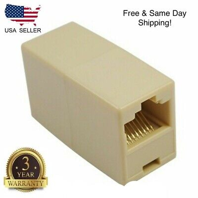 4C RJ11 Telephone Phone Jack Line Coupler Adapter Connector for Exten Cord -