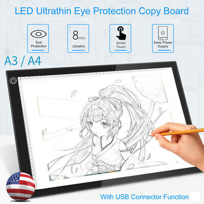 Eye-Protection A3/4 LED Light Pad Box Drawing Tablet Tracing Tracer Copy Board