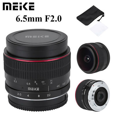 Meike 6.5mm F2.0 Fisheye Manual Focus Fixed Lens For Panasonic Micro 4/3 Mount