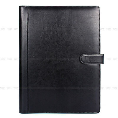 A4 Leather Conference Folder Portfolio Ring Binder Organiser Wcalculator