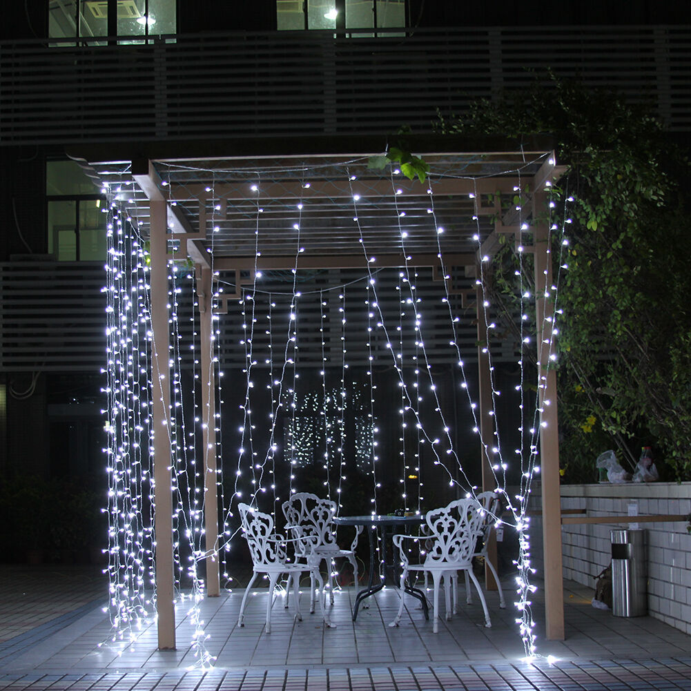 Outdoor Vertical String Lights : WHITE 20 LED CHRISTMAS XMAS TREE FAIRY STRING LIGHTS DECORATIONS OUTDOOR INDOOR eBay