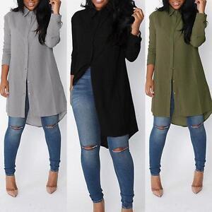 Las-mujeres-de-moda-Casual-Tops-manga-larga-Camisa-Blusa-Popular