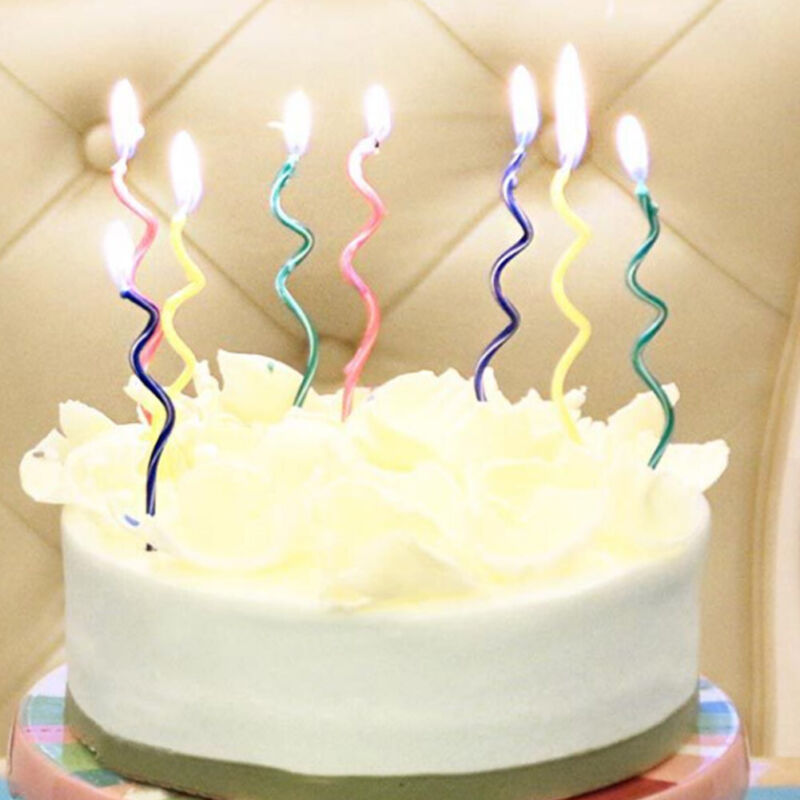 Superb Creative Wavy Happy Birthday Cake Candles Topper Decoration Party Funny Birthday Cards Online Eattedamsfinfo