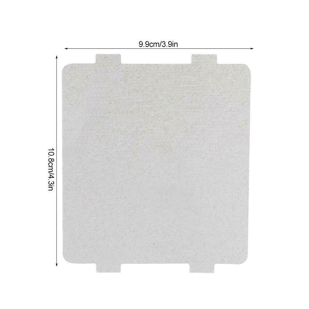 Universelle Mikrowellen Spritzschutz Glimmerplatte Glimmerscheibe  108x99mm Neu