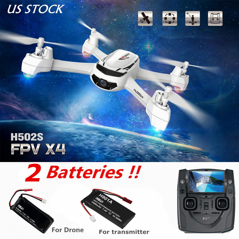 Hubsan H502S X4 5.8G FPV RC Quadcopter W/ 720P CAM Headless Mode GPS +2Battery