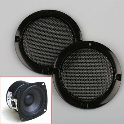 "2pcs 3""Inch Matt Type Circle Speaker With Protective Grille Decorative Circle"