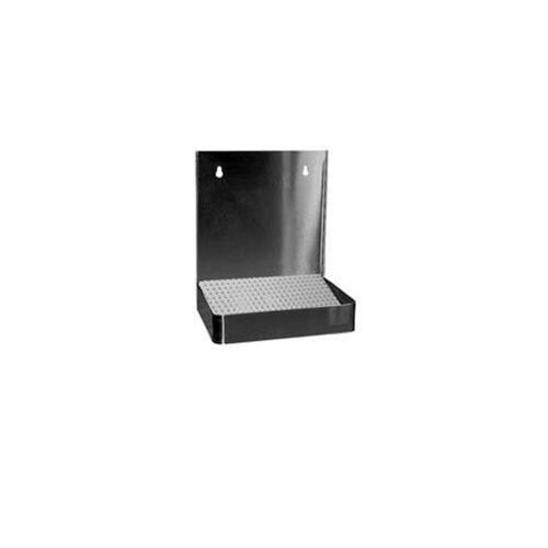 """19"""" Wall Mount Drip Tray - Stainless Steel - With Drain"""
