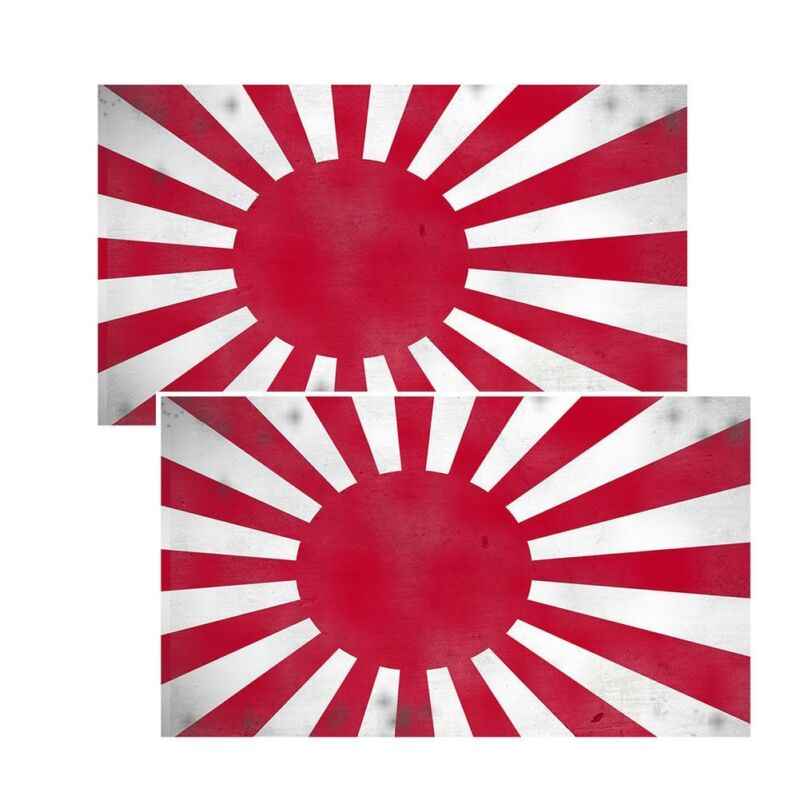 Japanese Rising Sun Battle Flag Decals Pack Of Two