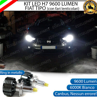 KIT LED H7 FIAT TIPO RESTYLING CANBUS 6000K XENON 9600 LUMEN 80W...