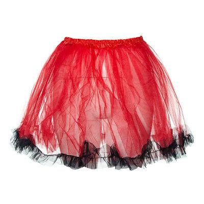 k 80s Neon Fancy Dress Hen Party Trimmed Adults Tutu Skirt (Neon Blue Tutu)