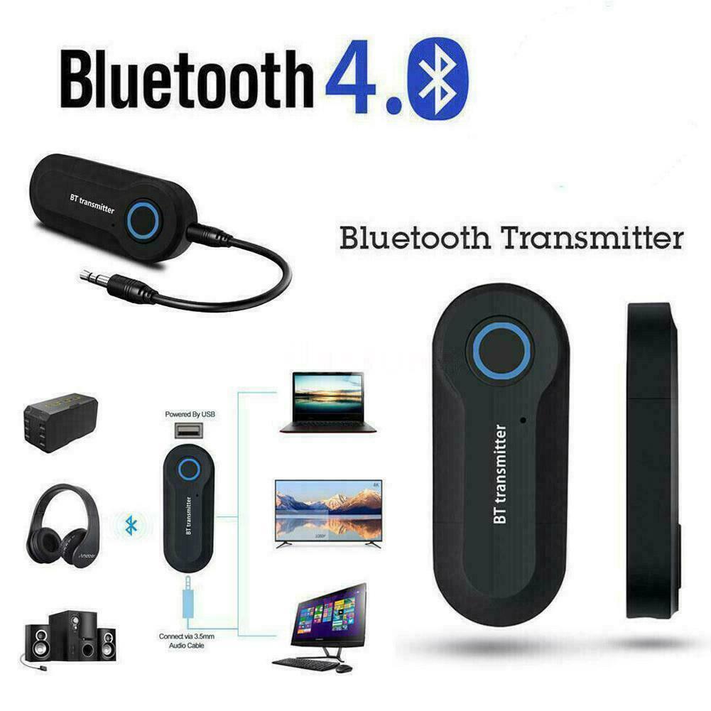 Bluetooth 4.0 Transmitter Audio Wireless Adapter 3.5mm Jack