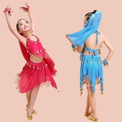 Kinder Mädchen Kinder Bauchtanz Kostüm Chiffon Top Hosen Dancewear - Tanzsport Kostüm Kinder