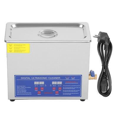 6l Ultrasonic Cleaner Stainless Steel Industry Heated Heater Wtimer New