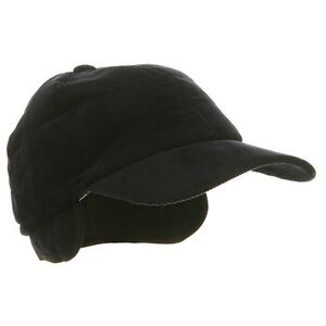s winter corduroy quilted baseball cap hat with