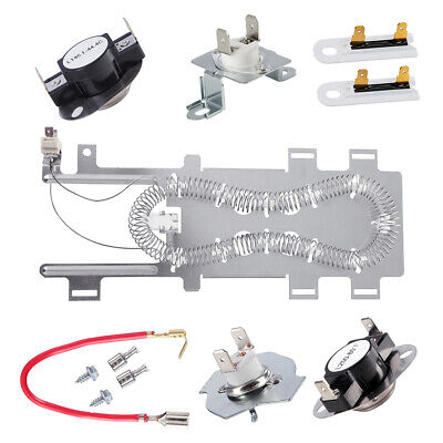8544771&279973$3392519&279816 Dryer Heating Element Thermal Fuse and Thermostat