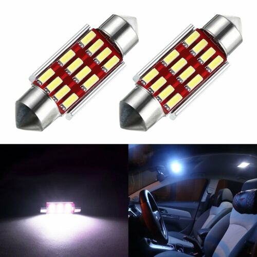 4x 36mm 4014 12 SMD LED Canbus Festoon Dome Lamp Car License Plate Light C5W