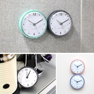 Mini Waterproof Kitchen Bathroom Bath Shower Clock with Suction Cup Red
