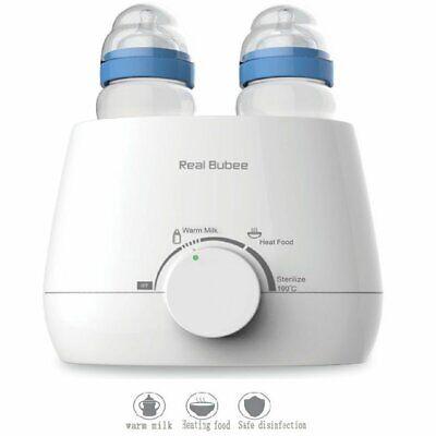 3-in-1 Electric Milk Baby Bottle Warmer Steam Sterilizer Double White