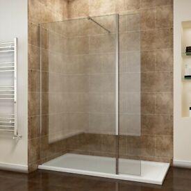 +SALE+ 1200mm Shower Screen 8mm Glass + Support Arm + Flipper