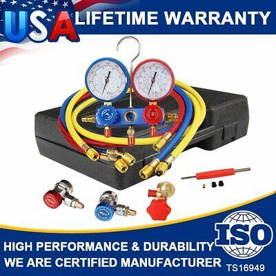 R134A R410a R22 HVAC A/C AC Refrigeration Kits Auto AC Manifold Vacuum Gauge Set for sale  Shipping to Canada