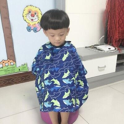 Kids Colors Salon Waterproof Hair Cut Haircut Barbers Cape Gown Cloth Easy Use (Kids Colors)
