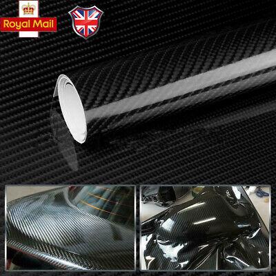 3D BLACK Carbon Fibre Textured Car Wrapping Vinyl Gadget 30CMx 1.52M