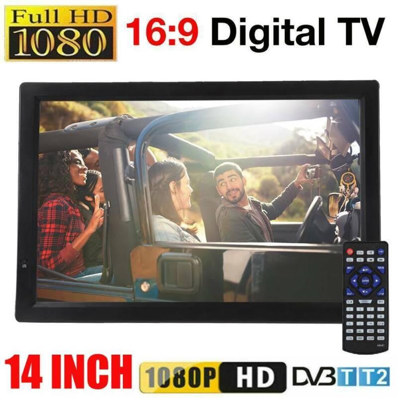 14+INCH+Portable+Digital+ATV+TV+Player+DVB-T-T2+USB+1080P+LED+Freeview+PVR+DC12V