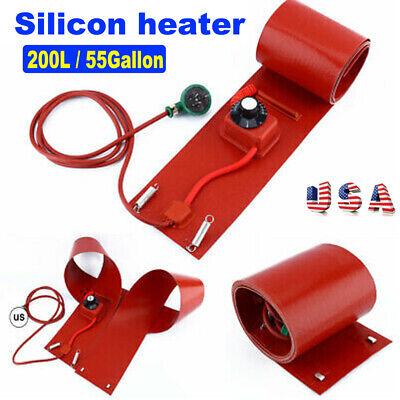 200l 55gallon 1000w 110v Silicone Band Drum Heater Oil Biodiesel Metal Barrel