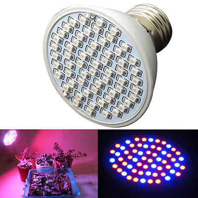 6W 60LED E27 Hydroponic Plant Grow Light ...