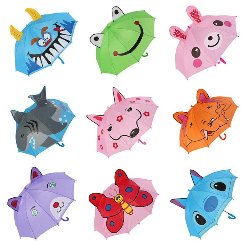 3D Cartoon Cute Ear Dome Umbrellas For Kids Girls Boys Cute