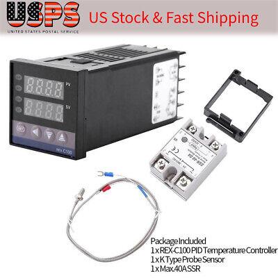 Digital Led Pid Temperature Controller Kits Intelligent Thermostat Ac 110v-240v