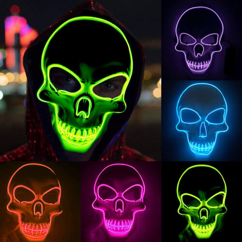 Halloween Scary LED Mask Cosplay Wire Led Light Up Costume Cosplay Masks