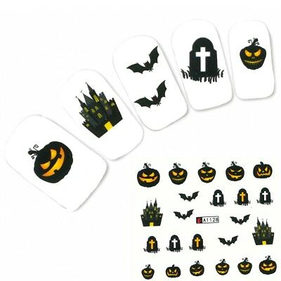 Tattoo Nail Halloween Fledermaus Aufkleber Nagel Sticker - Halloween Fledermaus