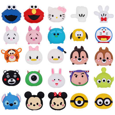 Cartoon Animal Phone Charger Protector Soft Cord Cable Funny Bite -