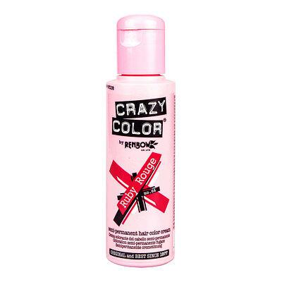 Renbow Crazy Color Haarfarbe Auswaschbar Tnung Hair Dye 100ml Ruby Rouge Rot