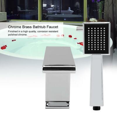 Wasserhahn Wasserfall Badewanne Mischbatterie Duschkopf mit Handbrause set (Dusche Kopf Wasserhahn Set)