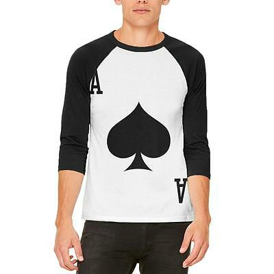 Halloween Ace of Spades Card Soldier Costume Mens Raglan T Shirt - Ace Of Spades Halloween Costume