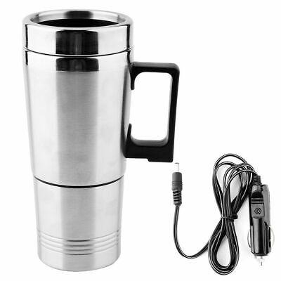 12V Auto Edelstahl Wasserkocher Kaffee Tee Thermoskanne Warmwasserbereiter Tasse